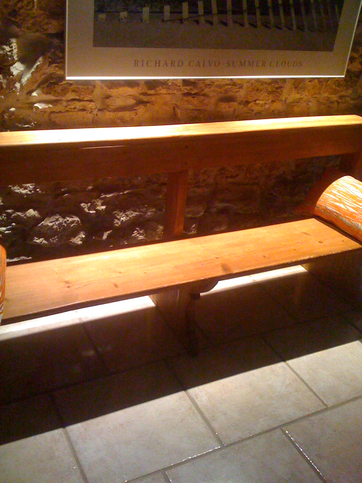 banc en pin style banc d 39 glise sur. Black Bedroom Furniture Sets. Home Design Ideas